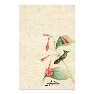 Artigos de papelaria dos animais selvagens da flor