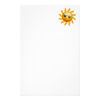 Artigos de papelaria engraçados de Sun do verão