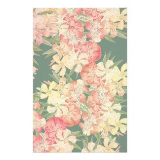 Artigos de papelaria florais das flores do