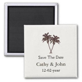 Artigos de papelaria tropicais do casamento de ímã quadrado
