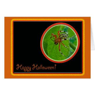 Artigos felizes marmoreados do Dia das Bruxas da Cartão Comemorativo