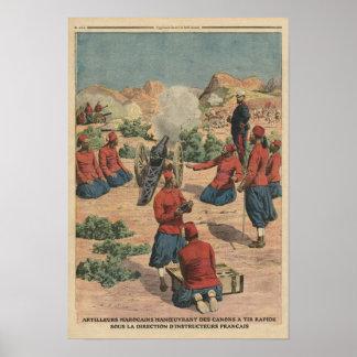 Artillerymen marroquinos poster