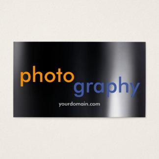 Artista cinzento escuro original do fotógrafo cartão de visitas