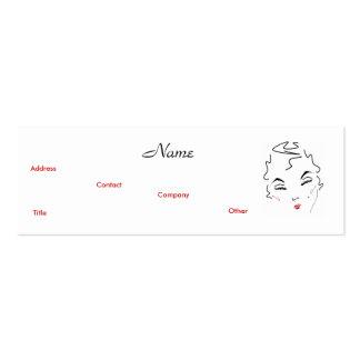 Artista de composição V clássico Cartão De Visita Skinny