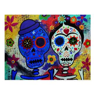 Artistas de Diâmetro de los Muertos Mexicano Cartão Postal
