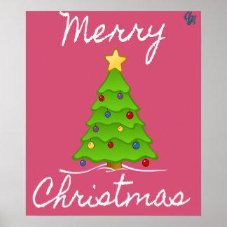 Árvore alegre do Feliz Natal Pôster