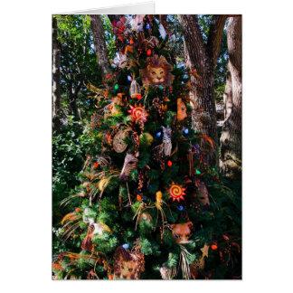 Árvore animal cartões