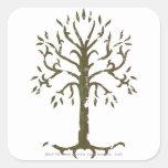 Árvore branca de Gondor Adesivo Em Forma Quadrada