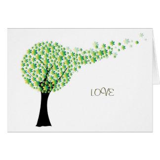 árvore cartões