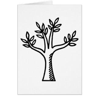 árvore cartão comemorativo
