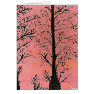 árvore cartão de nota