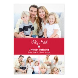 Árvore cartões de fotos de Modernos de férias Convite Personalizado