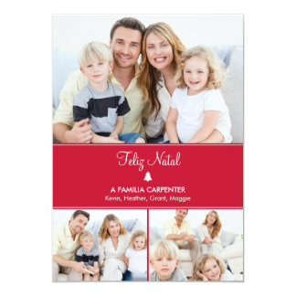 Árvore cartões de fotos de Modernos de férias Convite 12.7 X 17.78cm