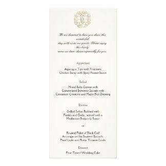 Árvore celta do menu do casamento do ouro da vida 10.16 x 22.86cm panfleto