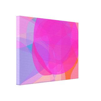 Árvore cor-de-rosa impressão em canvas
