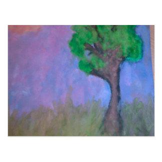 Árvore da arte cartão postal