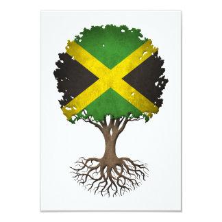 Árvore da bandeira de vida jamaicana customizável convites personalizado