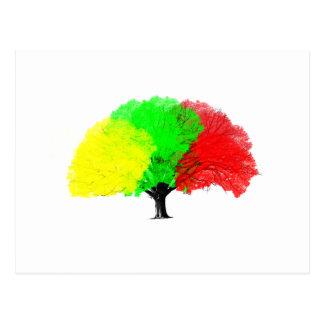 Árvore da cor cartão postal