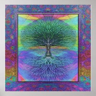 Árvore da esperança e da paz da vida poster