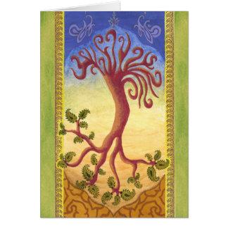 Árvore da eternidade cartão comemorativo