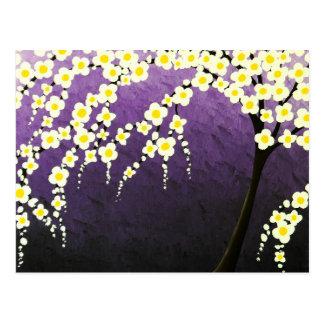 árvore da flor cartão postal