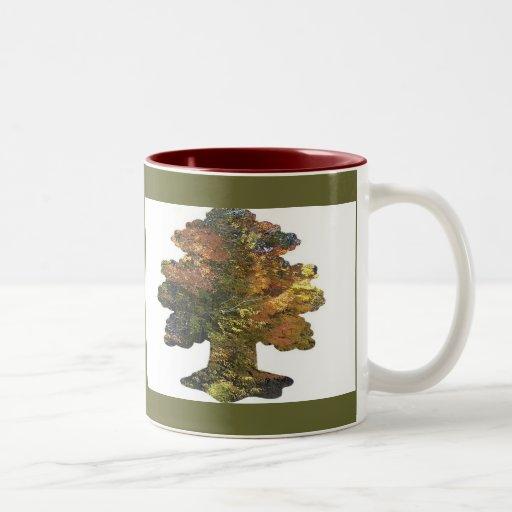 Árvore da folha canecas
