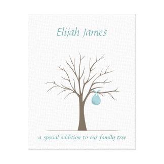 Árvore da impressão digital do bebê - azul