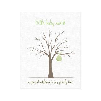 Árvore da impressão digital do bebê - verde