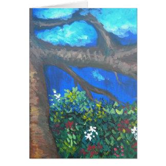Árvore da sabedoria cartão comemorativo