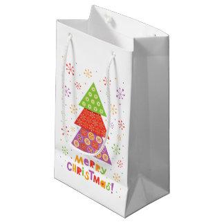 Árvore de abeto decorativa do Natal Sacola Para Presentes Pequena