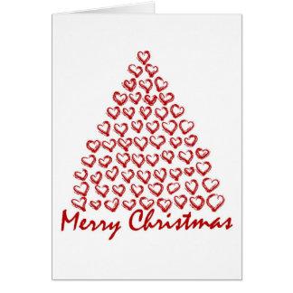 Árvore de amor do Natal Cartão
