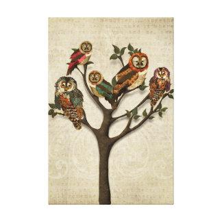 Árvore de canvas das corujas impressão em tela canvas