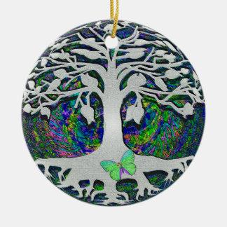 Árvore de começos novos da vida por Amelia Carrie Ornamento De Cerâmica