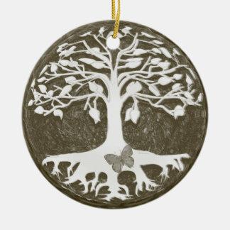 Árvore de começos novos da vida por Amelia Carrie Ornamento De Cerâmica Redondo