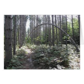 Árvore de dobra cartão comemorativo