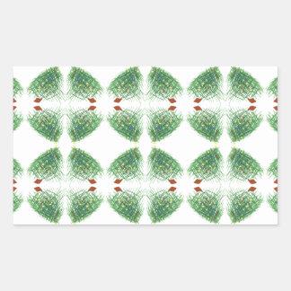 árvore de Natal 2 Adesivo Retangular