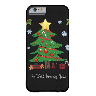 Árvore de Natal com caso do iPhone 6 do feriado Capa iPhone 6 Barely There