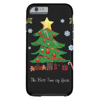 Árvore de Natal com caso do iPhone 6 do feriado Capa Tough Para iPhone 6
