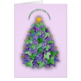 Árvore de Natal das uvas de Napa Valley Cartão Comemorativo