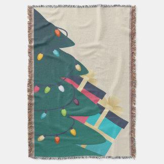 Árvore de Natal decorada Coberta
