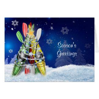 Árvore de Natal do caiaque - cartão