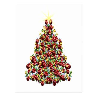 Árvore de Natal do ornamento Cartão Postal