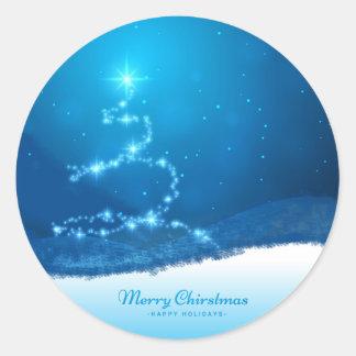 Árvore de Natal estrelado Adesivo