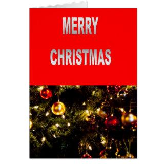 Árvore de Natal festiva Cartões
