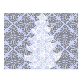 Árvore de Natal moderna clássica da cor damasco Cartao Postal