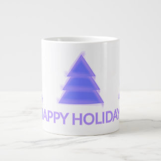 Árvore de Natal roxa {} Jumbo Mug