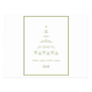 Árvore de Natal verde Cartão Postal