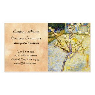 Árvore de pera em belas artes de Vincent van Gogh Cartão De Visita