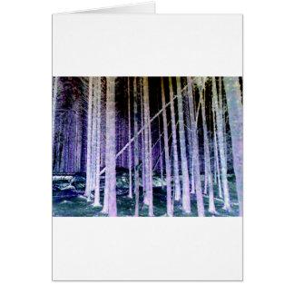 Árvore de queda cartão comemorativo