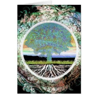 Árvore de vida cartão de nota
